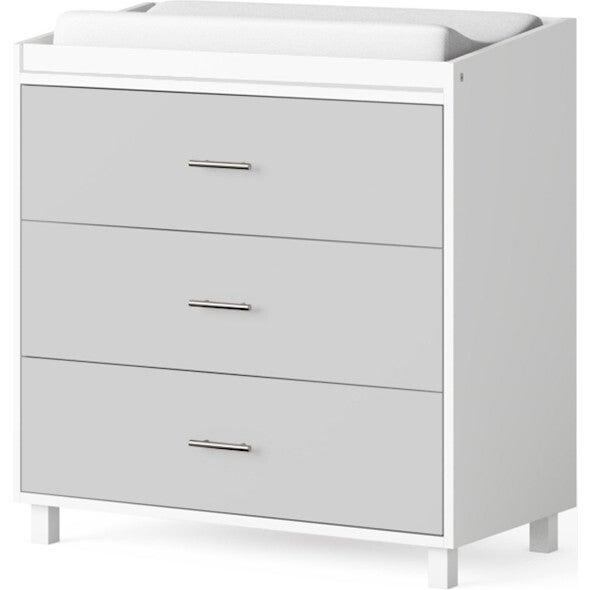 Indi 3 Drawer Changer Dresser, Gray