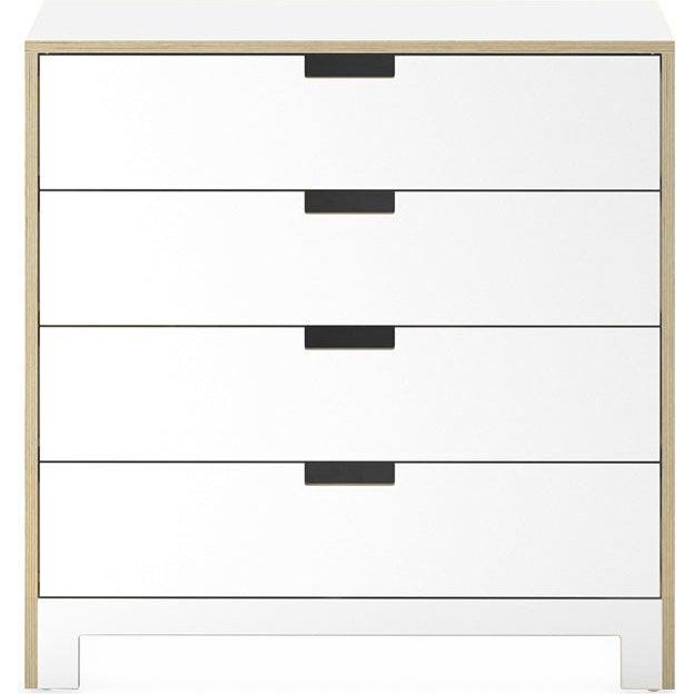 Juno 4 Drawer Dresser, White