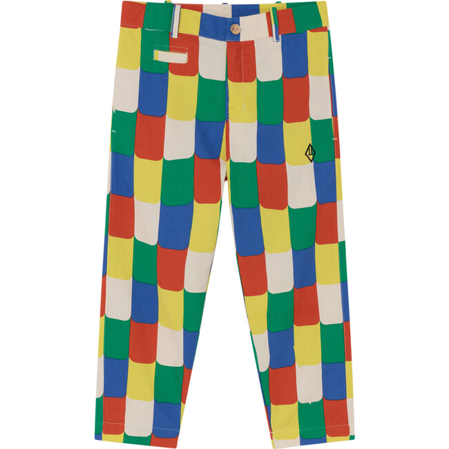 Camel Kids Trousers, White Multicolor