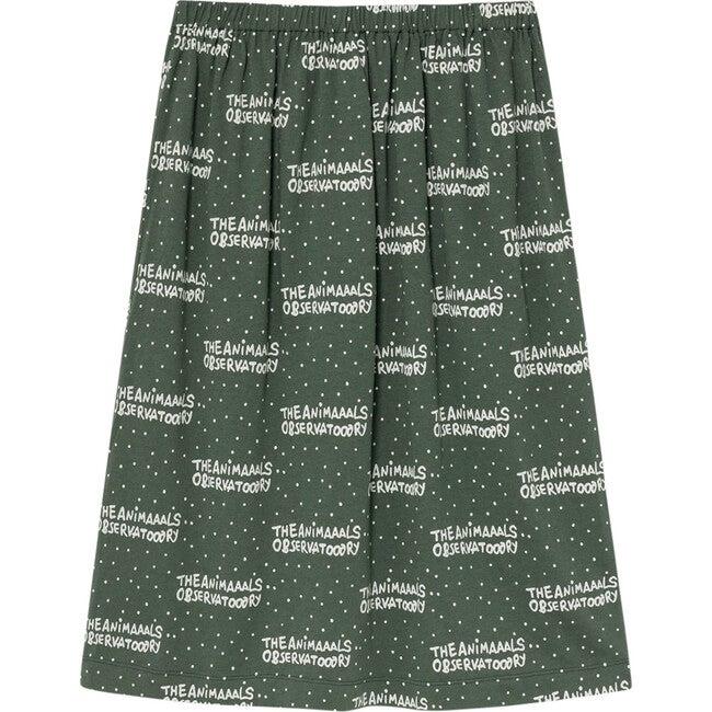 Ladybug Kids Skirt, Green The Animals