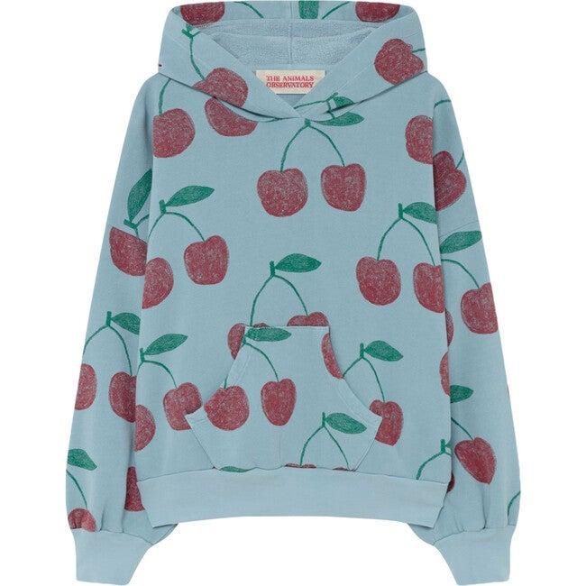 Beaver Kids Sweatshirt, Soft Blue Cherries