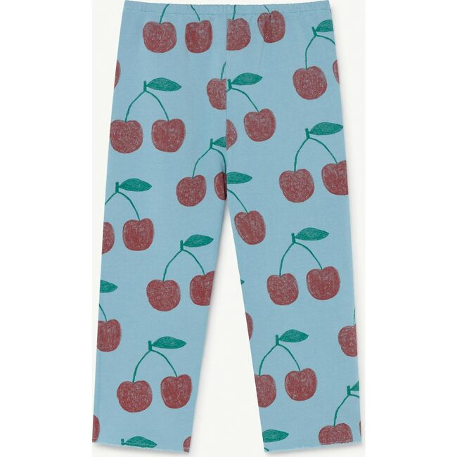 Horse Kids Trousers, Soft Blue Cherries