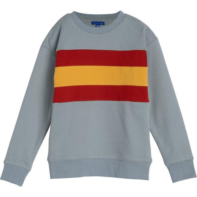 Tyler Colorblock Sweatshirt, Dusty Blue Multi