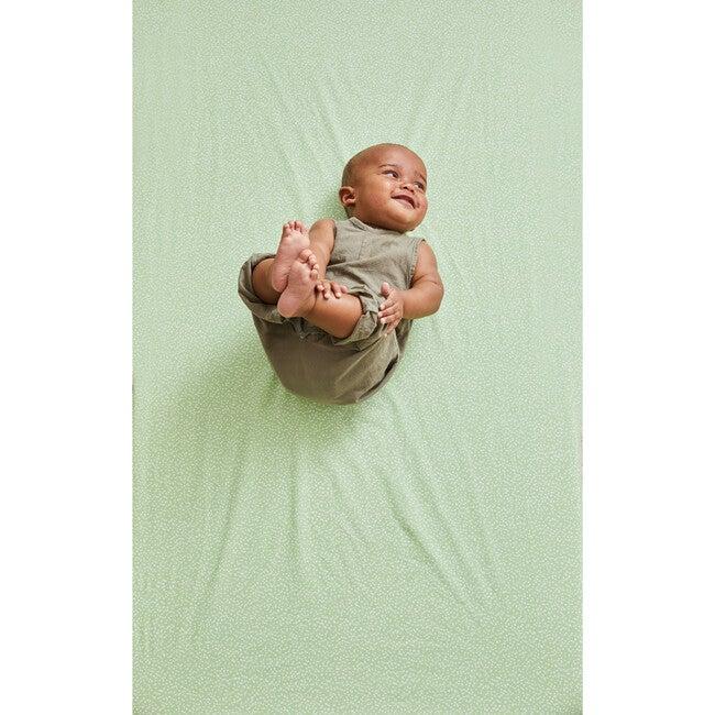 Dotty Crib Sheet, Green