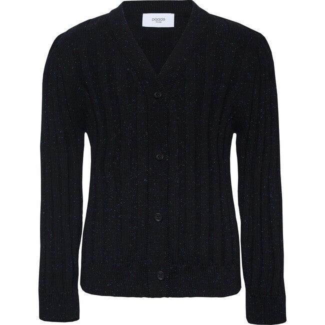 Seamless Cardigan Metallic, Black - Cardigans - 1