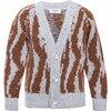 Wool Cardigan Wild Grey, Brown - Cardigans - 1 - thumbnail
