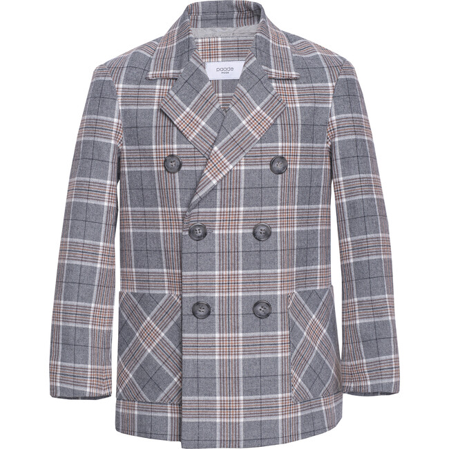 Cashmere Blend Double breasted Blazer Taiga, Grey