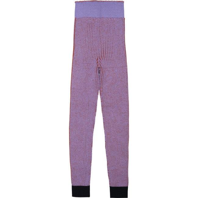 Seamless Knit Leggings, Violet