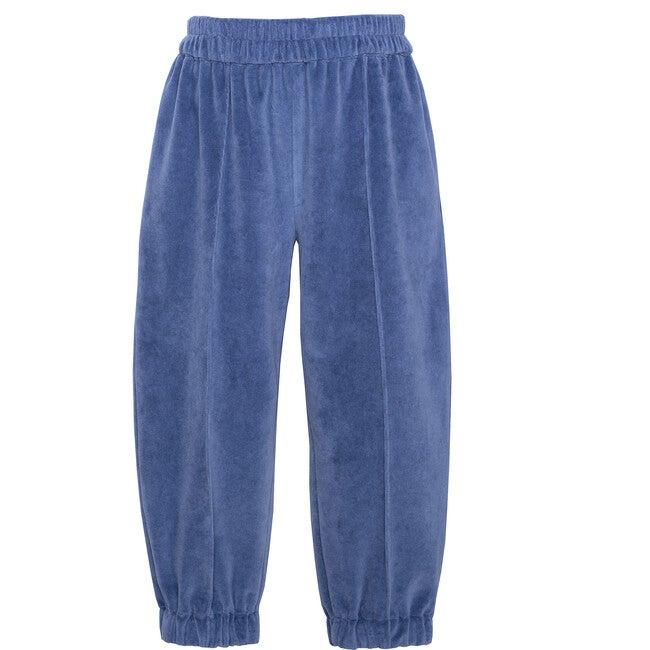 Velvet Logo Pants, Blue