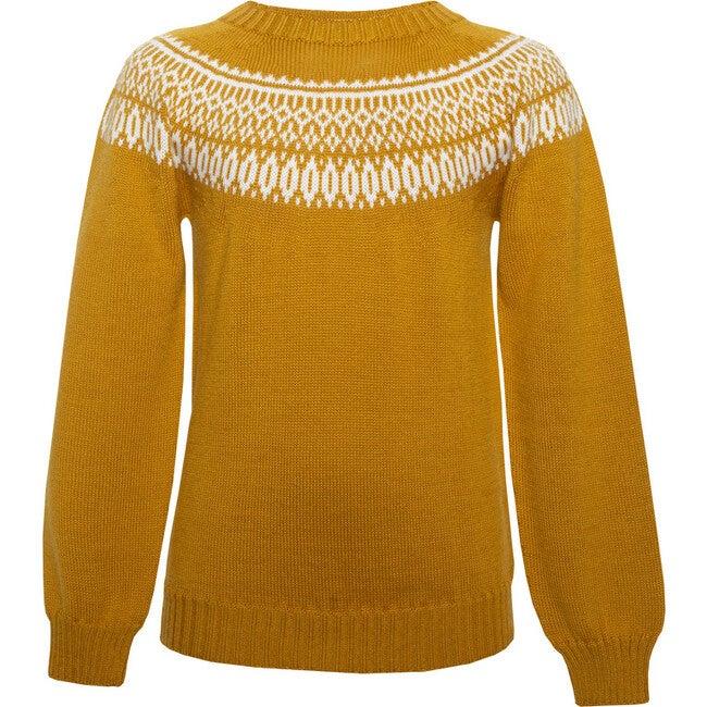 Seamless Knit Sweater, Yellow