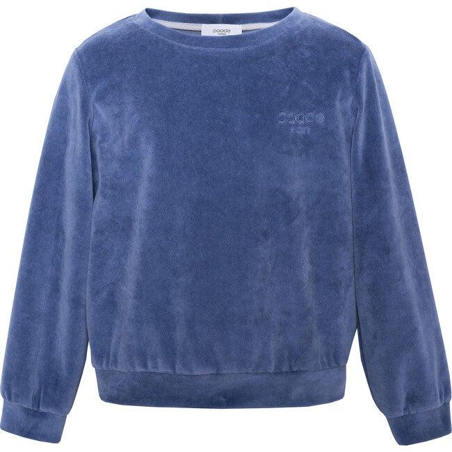 Velvet Logo Sweatshirt, Blue