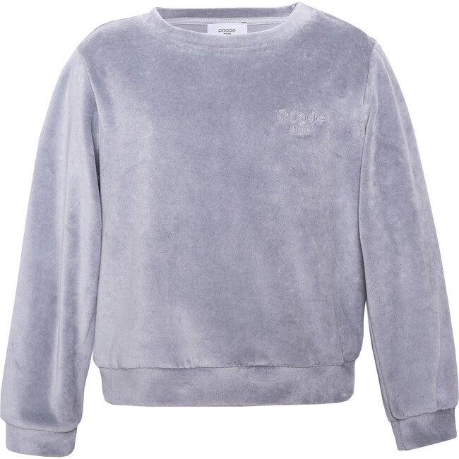 Velvet Logo Sweatshirt, Grey