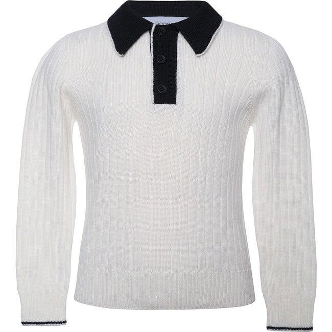 Seamless Knit Polo, White