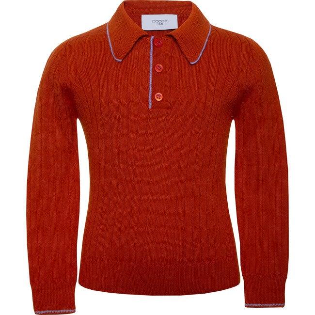 Seamless Knit Polo, Orange