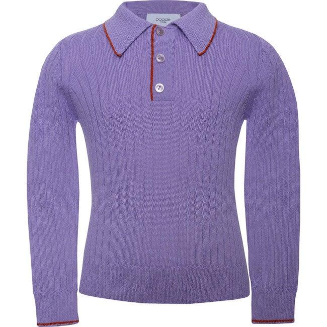 Seamless Knit Polo, Violet