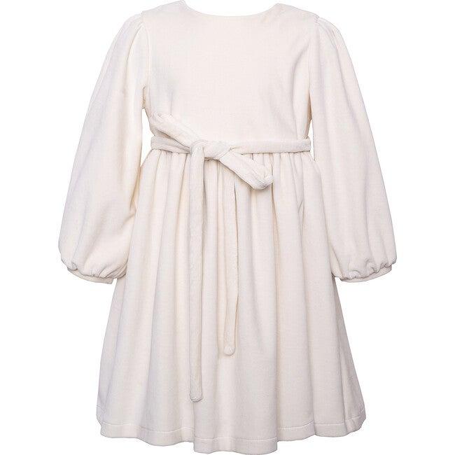 Velvet Dress, White