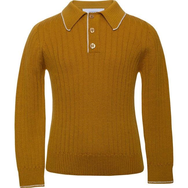 Seamless Knit Polo, Yellow