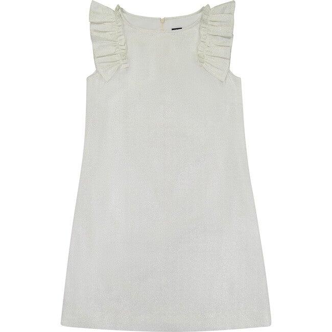 Grace Tween Ruffle Party Dress, Silver Sparkle