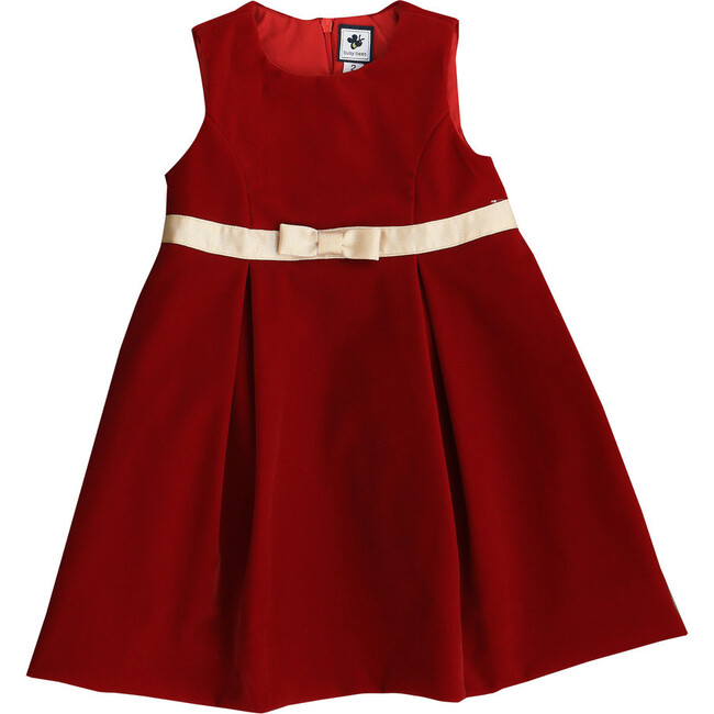 Gemma Velvet Party Dress, Red