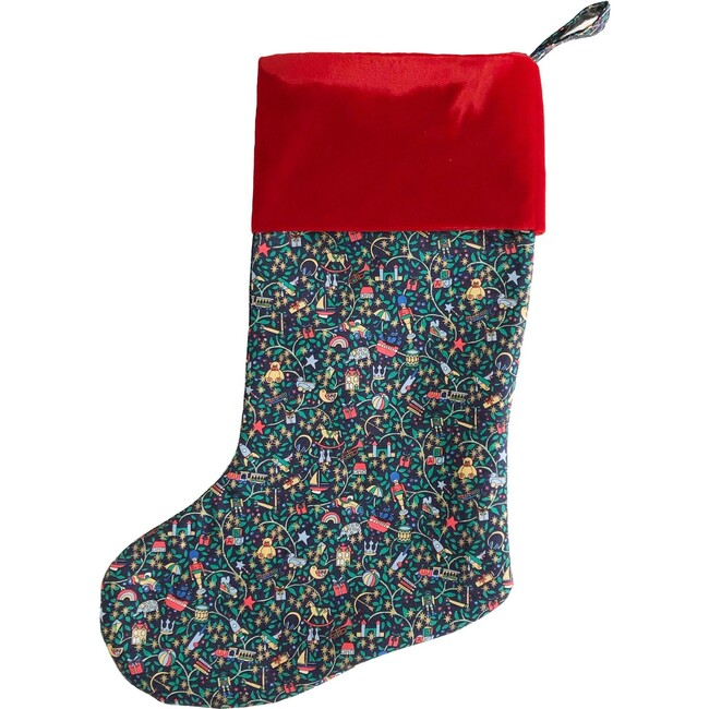 Christmas Stocking, Green Magical Forest