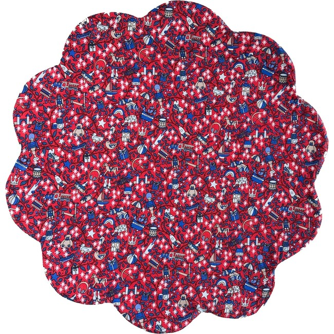 Liberty of London Scalloped Placemats, Red Magical Forest