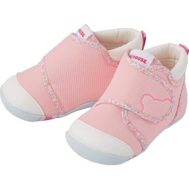 My First Walker Shoes, Pink Stripes