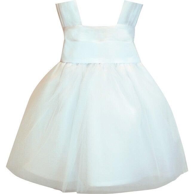 Venice Tulle Baby Dress, White