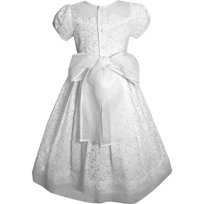 Gala Lace Dress, White Cotton