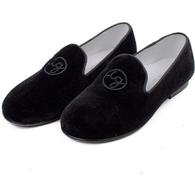 Isabel Garreton Monogram Velvet Loafers - Dress Shoes - 1