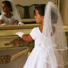 Gathered Veil with Delicate Lace Trim, White - Hair Accessories - 2