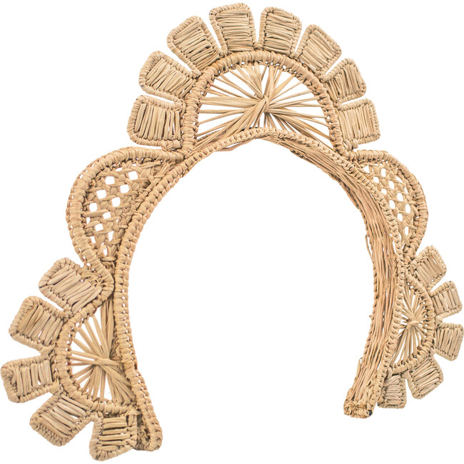 Woven Sun Headband, Natural - Hair Accessories - 1