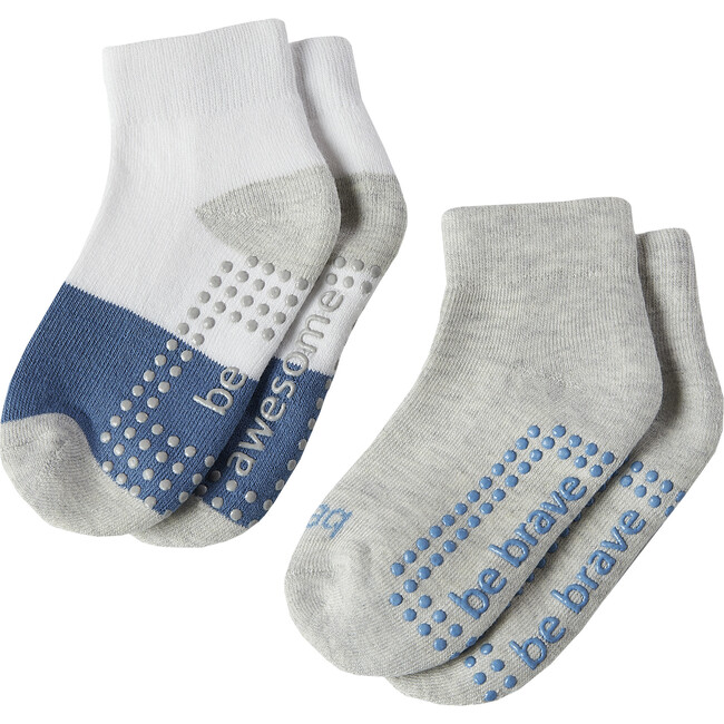 Max Boys 2 Pack Grip Socks