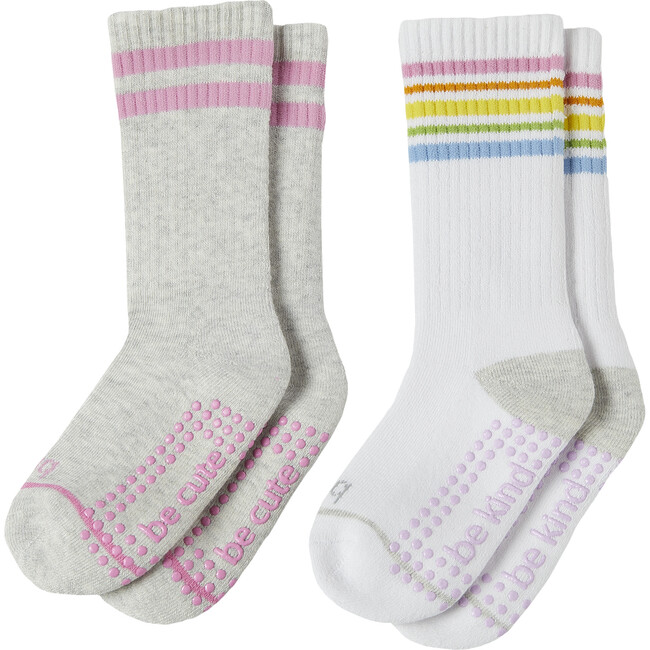 Ivy Girls 2 Pack Grip Crew Socks