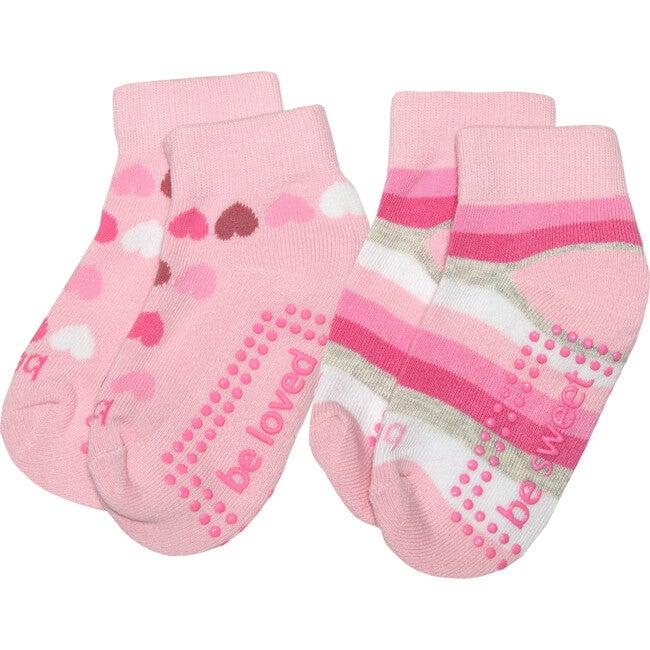 Fiona Girls 2 Pack Grip Socks