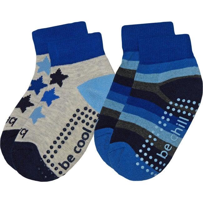 Finn Boys 2 Pack Grip Socks