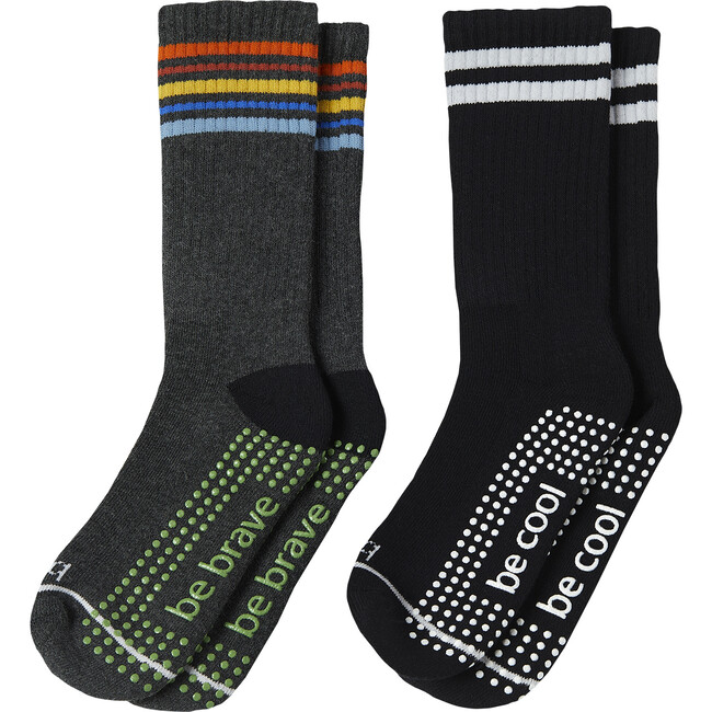 Bobby Boys 2 Pack Grip Crew Socks