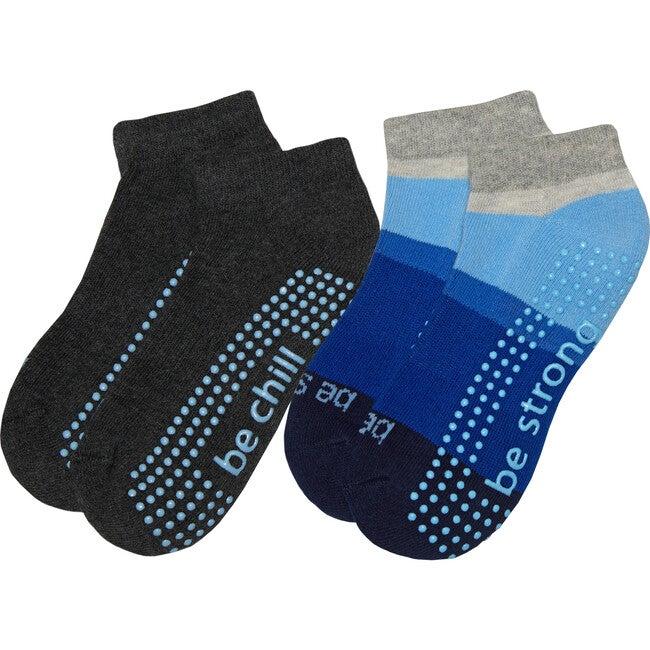 Cruz Boys 2 Pack Grip Socks