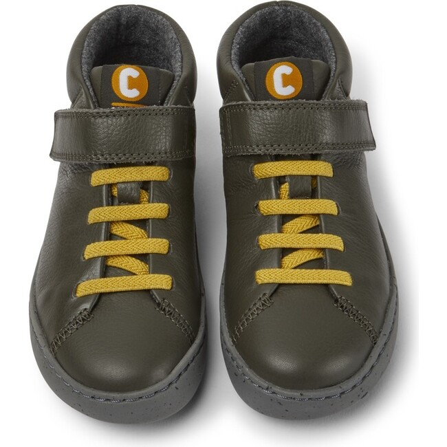 Kids Peu Touring Leather Boot, Green