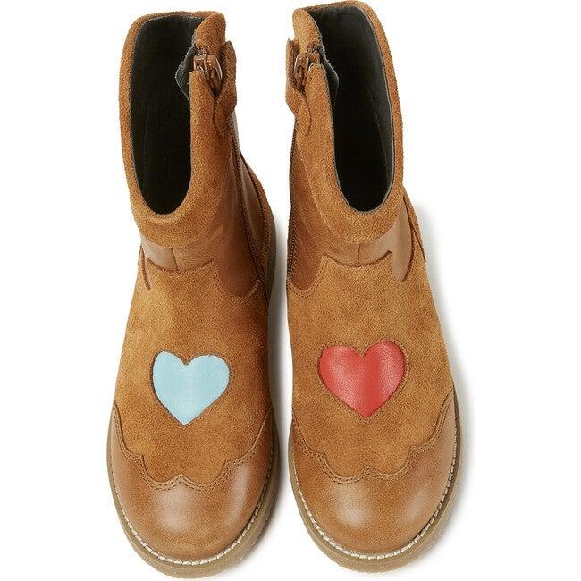 Girls TWS Nubuck Cowboy Boot, Brown