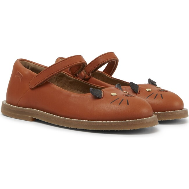Girls TWS Leather Mary Jane, Brown