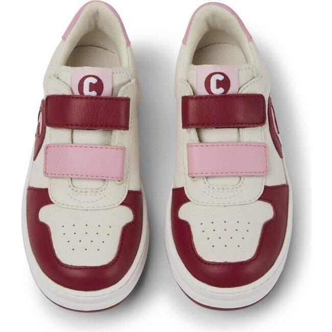 Girls Runner Four Leather Sneaker, Multicolor