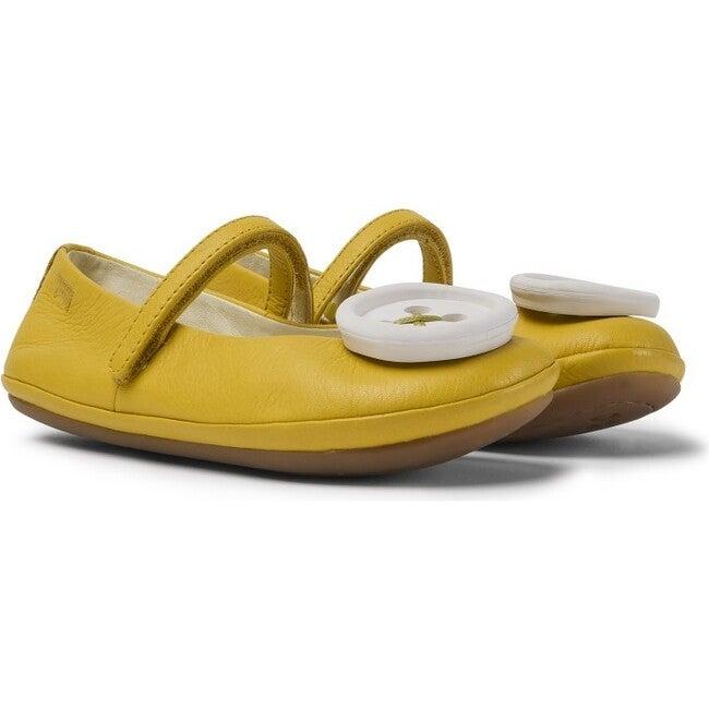 Girls TWS Leather Ballerina, Yellow