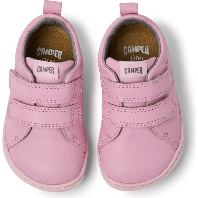 Girls Peu Cami FW Leather Sneaker, Pink