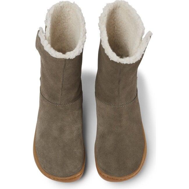 Girls Peu Cami Nubuck Boot, Brown Gray