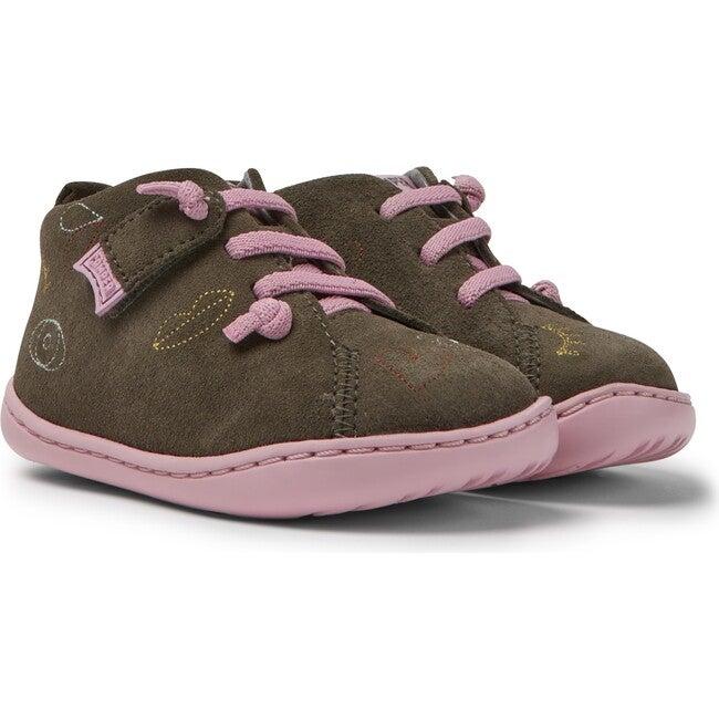 Girls TWS FW Nubuck Boot, Brown gray