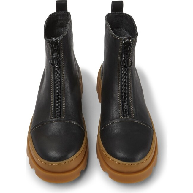 Girls Brutus Leather Boot, Black