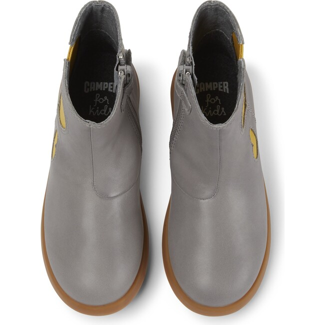 Girls Duet Leather Chelsea Boot, Grey
