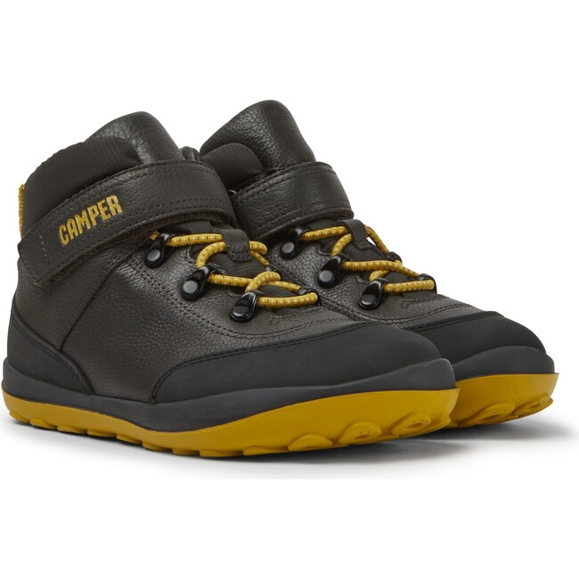 Kids Peu Pista Leather Boot, Grey