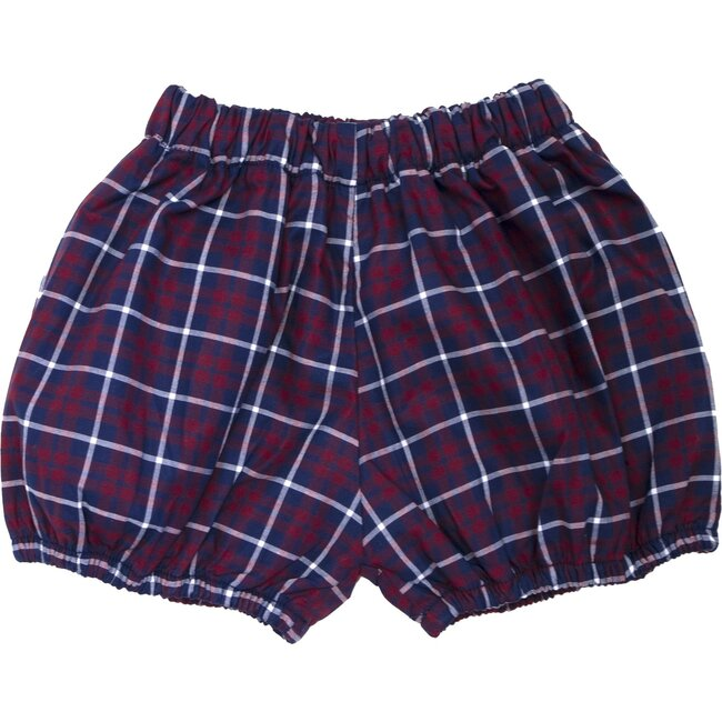 Holiday Plaid Diaper Cover, Navy Multi