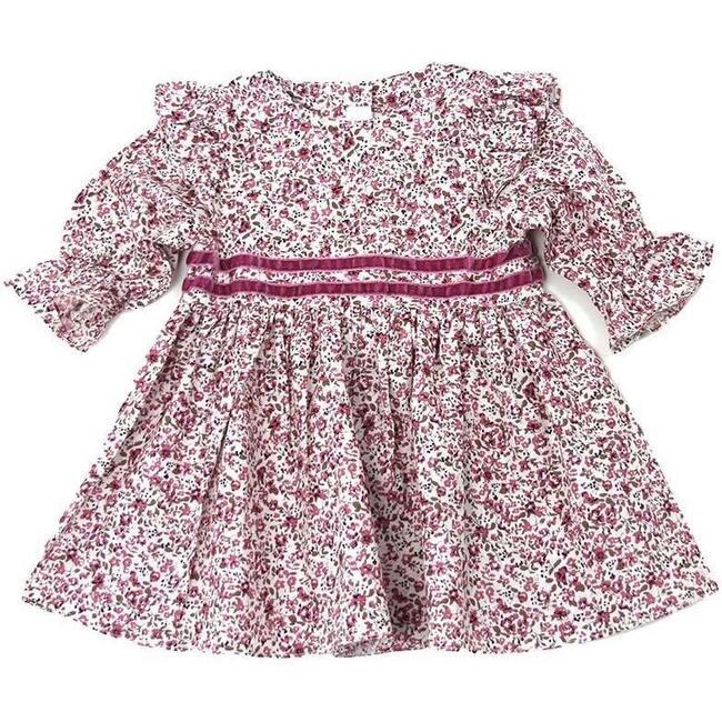 Freesia Long Sleeve Dress, Pink Multi